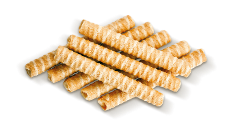 Rolls with baked milk flavour